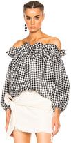 Marques Almeida Marques ' Almeida Denim Knotted Mini Skirt