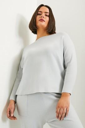 Karen Millen Curve Long Sleeve Soft Yarn Jumper