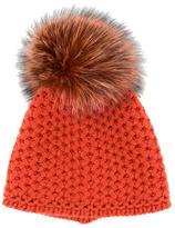 Inverni Fox Fur Pom-Pom Beanie