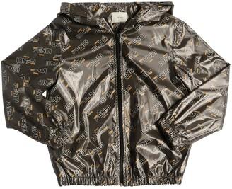 Fendi Mania Print Coated Jersey Jacket