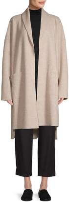 Eileen Fisher High-Low Wool Cardigan