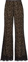 Michael Kors Corded cotton-blend lace flared pants