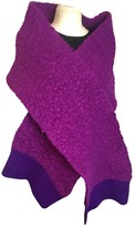 Stella McCartney Stella Mc Cartney Purple Wool Scarves
