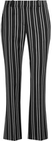 Givenchy Straight-leg Pants In Black And White Striped Wool-jacquard - FR42