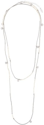 Brunello Cucinelli Beaded Contrasting Layered Necklace