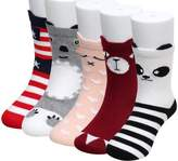 Bundle Monster 5pr Young Womens Mixed Socks