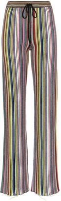 Marques Almeida Stripe Slim Fit Merino Wool Trousers