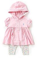 Ralph Lauren Baby Girls 3-24 Months Hooded Top & Printed Leggings Set