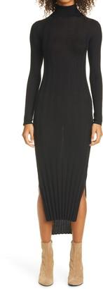 KHAITE Ribbed Long Sleeve Wool Sweater Dress