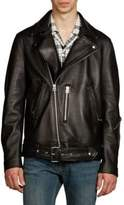 Acne Studios Nate Clean Lamb Leather Moto Jacket