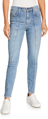 Current/Elliott The Seamed High-Waist Ankle Skinny Stiletto Jeans