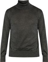 Jil Sander Roll-neck metallic-knit sweater