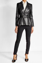 Alexander McQueen Belted Leather Jacket