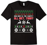 Men's Funny Why is the Carpet All Wet Todd Couples T-Shirt Christm 2XL