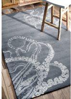 nuLoom Handmade Octopus Tail Wool Kids Grey Rug (8'6 x 11'6)