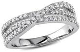 Allura 1/2 CT. T.W. Diamond Crossover Ring in Sterling Silver