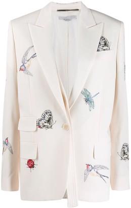 Stella McCartney bug embroidered blazer
