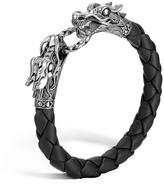 "John Hardy Naga"" Black Woven Leather Dragon Bracelet"