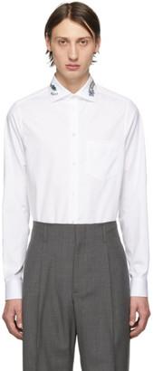 Gucci White Dragon Collar Shirt