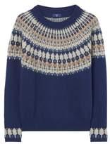 Gant Women's Blue Cotton Sweater.