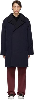 Maison Margiela Navy Nylon Coat