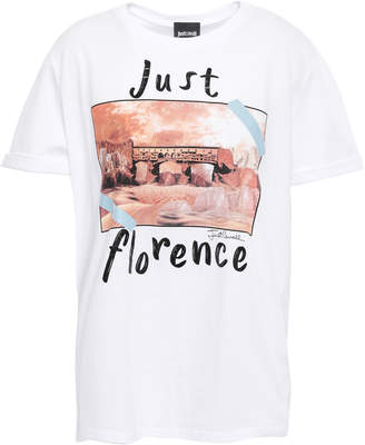 Just Cavalli Printed Cotton-jersey T-shirt