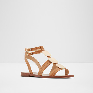 Rachel Zoe Dylan Metallic Embellished Gladiator Sandals