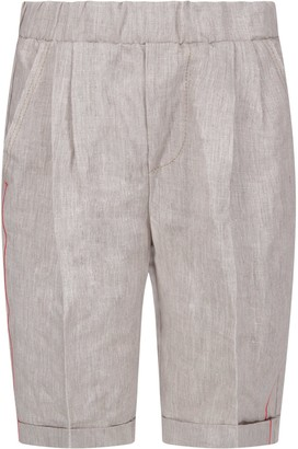 Dondup Grey Boy Short With Iconic D