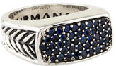 David Yurman Chevron Narrow Sapphire Ring