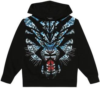 Marcelo Burlon Kids Of Milan Tiger cotton-blend hoodie