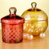 Yellow or Red Glass Canisters