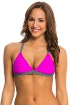 Next Good Karma Solid Barre Racerback Sports Bra Bikini Top 8136206