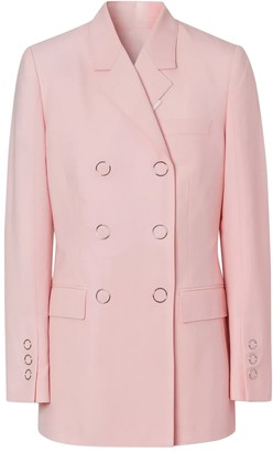 Burberry Soft Pink Double-breasted Blazer