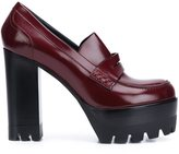 Mulberry platform loafer pumps