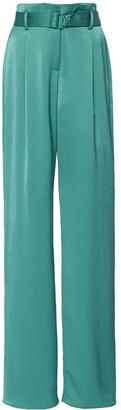 LAPOINTE High-Waist Straight-Leg Satin Trousers