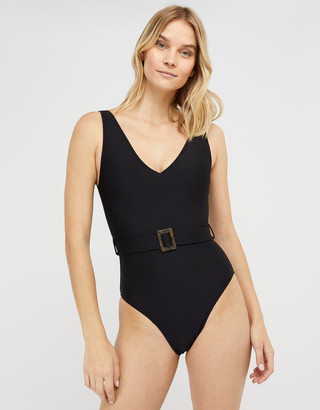 Under Armour Karina Belted Swimsuit with Recycled Polyester Black