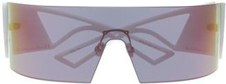 Christian Dior Kaleidiorscopic wraparound-frame sunglasses