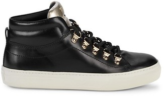 Tod's Metallic Colorblock Leather High-Top Sneakers