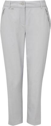Wallis Grey Cropped Zip Detail Trouser