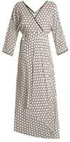Diane von Furstenberg Honeycomb dot-print asymmetric-hem crepe dress