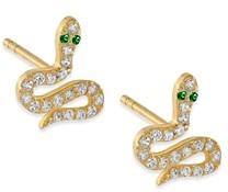 Adina's Jewels Pave Snake Stud Earrings