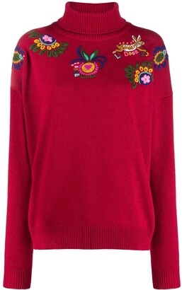 La DoubleJ Boy floral embroidery jumper