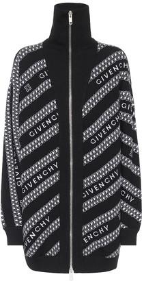 Givenchy Logo intarsia wool cardigan