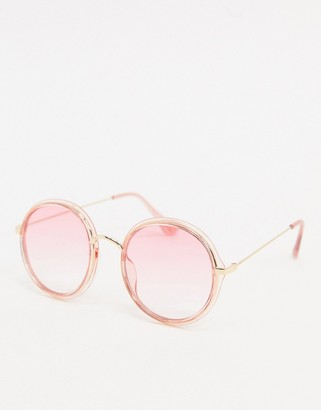 Jeepers Peepers round sunglasses in pink