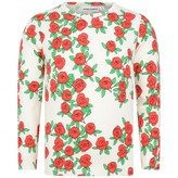 Mini Rodini Mini RodiniGirls Ivory Rose Print Top