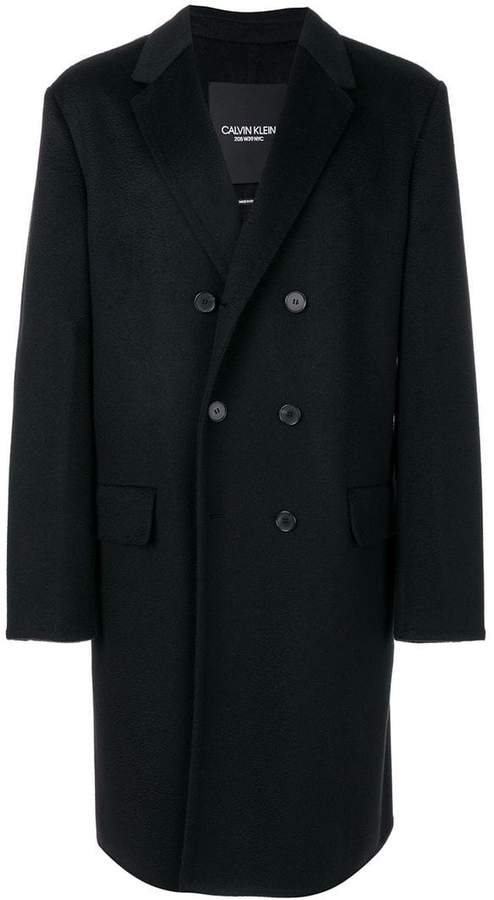 Calvin Klein double-breasted coat
