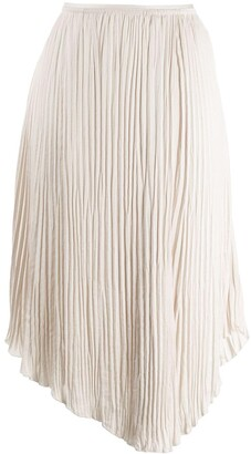 Vince Pleated Midi Skirt