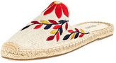 Soludos Shoes Embroidered Canvas Mule Slide, Sand