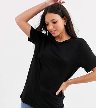 Asos Tall DESIGN Tall formal t-shirt in lyocel in black
