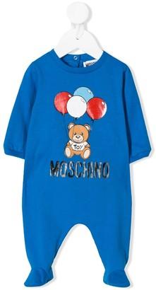 Moschino Kids balloon bear pyjamas